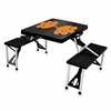 Picnic Time Picnic Table Black Clemson University Tigers