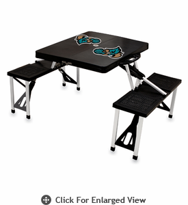 Picnic Time Picnic Table Black Coastal Carolina Chanticleers