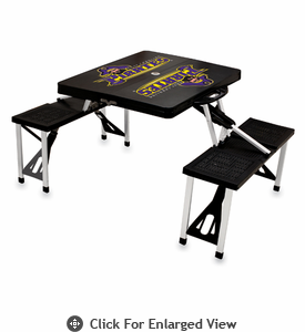 Picnic Time Picnic Table Black East Carolina Pirates