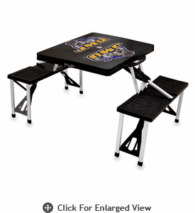 Picnic Time Picnic Table Black James Madison University Dukes