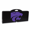 Picnic Time Picnic Table Black Kansas State Wildcats