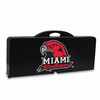Picnic Time Picnic Table Black Miami University Red Hawks
