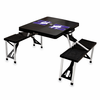 Picnic Time Picnic Table Black Northwestern University Wildcats