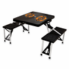 Picnic Time Picnic Table Black Oklahoma State Cowboys