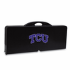 Picnic Time Picnic Table Black TCU Horned Frogs