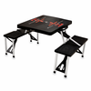 Picnic Time Picnic Table Black Texas Tech Red Raiders