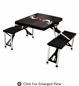 Picnic Time Picnic Table Black University of Cincinnati Bearcats