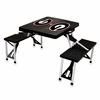 Picnic Time Picnic Table Black University of Georgia Bulldogs