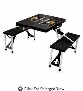 Picnic Time Picnic Table Black University of Missouri Tigers