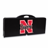 Picnic Time Picnic Table Black University of Nebraska Cornhuskers