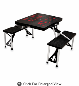 Picnic Time Picnic Table Black University of Nevada LV Rebels