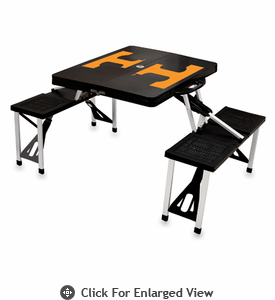 Picnic Time Picnic Table Black University of Tennessee Volunteers