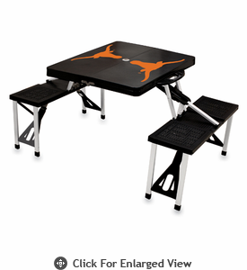 Picnic Time Picnic Table Black University of Texas Longhorns