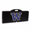 Picnic Time Picnic Table Black University of Washington Huskies