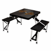 Picnic Time Picnic Table Black University of Wyoming Cowboys