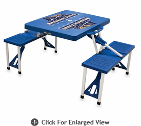 Picnic Time Picnic Table Blue BYU Cougars