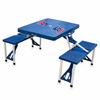 Picnic Time Picnic Table Blue Louisiana Tech Bulldogs