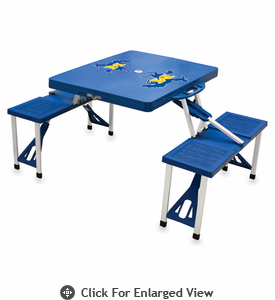 Picnic Time Picnic Table Blue McNeese State Cowboys
