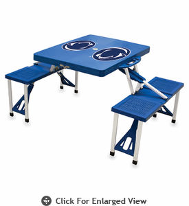 Picnic Time Picnic Table Blue Penn State Nittany Lions