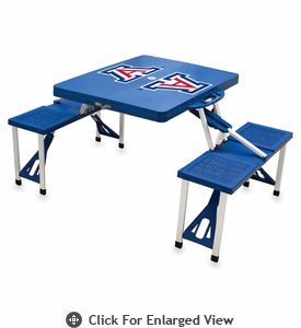 Picnic Time Picnic Table Blue University of Arizona Wildcats