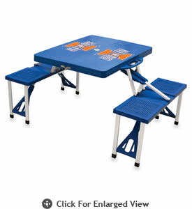 Picnic Time Picnic Table Blue University of Illinois Fighting Illini