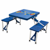 Picnic Time Picnic Table Blue University of Kansas Jayhawks