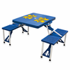 Picnic Time Picnic Table Blue University of Michigan Wolverines