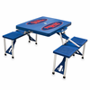 Picnic Time Picnic Table Blue University of Mississippi Rebels