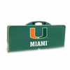 Picnic Time Picnic Table Green University of Miami Hurricanes