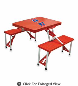 Picnic Time Picnic Table Red Louisiana Tech Bulldogs