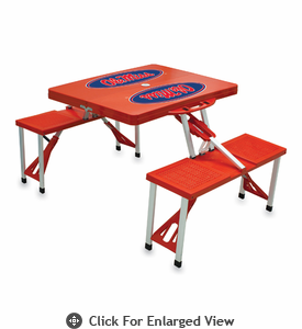 Picnic Time Picnic Table Red University of Mississippi Rebels