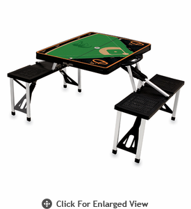 Picnic Time Picnic Table Sport - Black Baltimore Orioles
