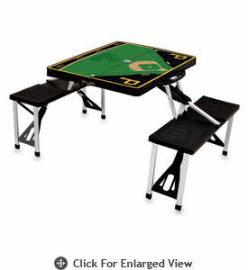 Picnic Time Picnic Table Sport - Black Pittsburgh Pirates