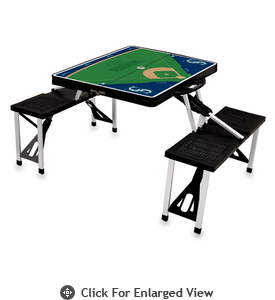 Picnic Time Picnic Table Sport - Black Seattle Mariners