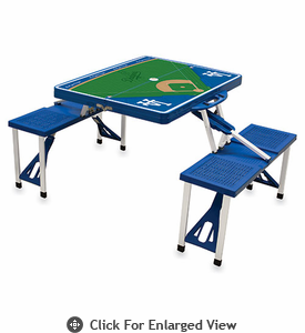 Picnic Time Picnic Table Sport - Blue Los Angeles Dodgers