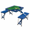 Picnic Time Picnic Table Sport - Blue Milwaukee Brewers