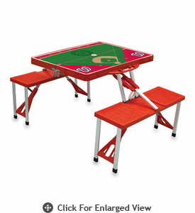 Picnic Time Picnic Table Sport - Red Washington Nationals