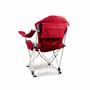 Picnic Time Reclining Camp Chair - Red