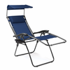Picnic Time Serenity Lounge Chair - Navy/Slate