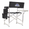 Picnic Time Sports Chair - Black Colorado Rockies