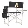 Picnic Time Sports Chair - Black Digital Print Appalachian State Mountaineers