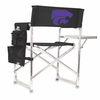 Picnic Time Sports Chair - Black Digital Print Kansas State Wildcats