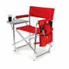 Picnic Time Sports Chair - Black Digital Print Miami University Red Hawks