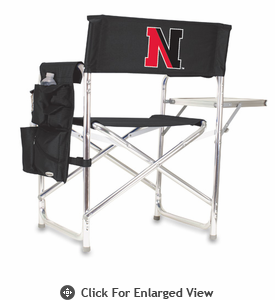 Picnic Time Sports Chair - Black Digital Print Northeastern University Huskies