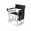 Picnic Time Sports Chair - Black Digital Print Northwestern University Wildcats