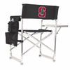 Picnic Time Sports Chair - Black Digital Print Stanford University Cardinal