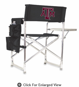 Picnic Time Sports Chair - Black Digital Print Texas A & M Aggies