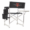 Picnic Time Sports Chair - Black Digital Print Texas Tech Red Raiders