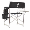 Picnic Time Sports Chair - Black Digital Print University of Cincinnati Bearcats