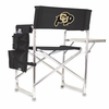Picnic Time Sports Chair - Black Digital Print University of Colorado Buffaloes